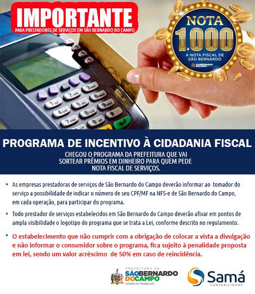 Programa Nota 1000 – Prefeitura de São Bernardo do Campo