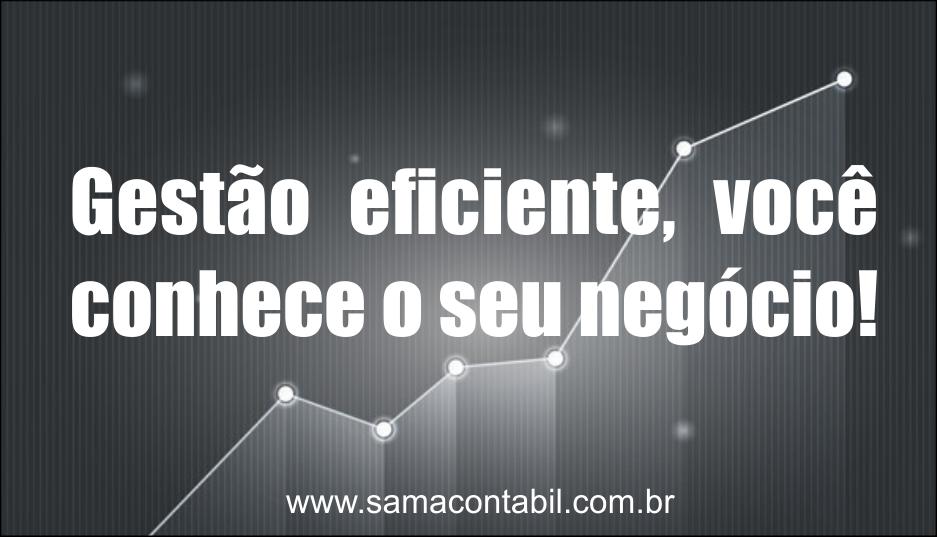 Gestão eficiente, você conhece o seu negócio, você faz ele crescer !